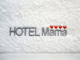 """Handtuch bestickt mit """"Hotel Mama"""""""