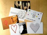 10 Karten, sechs Motive  - sortiert je nach Wunsch