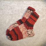 Socken 24/25 rot gemustert