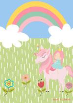 Einhorn vor Regenbogen