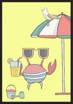 Krabbe macht Urlaub
