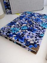Notizbuch blaue Blumen