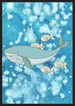 Wal mit Fischen