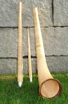 Alphorn Rigi, dreiteilig, aus Fichtenholz mit Standard-Mensur