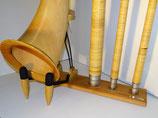 resunar Design Alphorn Ständer,  lange  Version (für zwei Mundrohre)