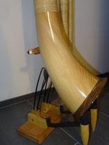 Alphorn Titlis, dreiteilig, aus Fichtenholz, mit grosser Mensur