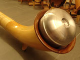Schalldämpfer für Alphorn mit grosser Mensur (grossee Becher)