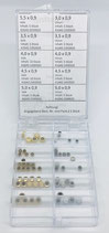 Ass. Corone Impermeabili Cromate e Laminate T2.0 - Passo Ø0.90mm - 60pz.