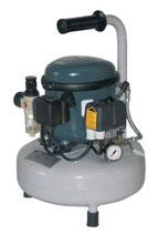 Compressore d'Aria Silenzioso Portatile 30L/min con Serbatoio Verticale 9 Lt., Pressione Max 8 bar.
