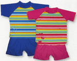 Kinder-UV-Schutzanzug, gestreift, 2-teilig