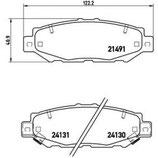 Brembo Bremsbeläge Toyota Supra MKIV JZA 80 ( kleine Bremsanlage ) für vorne oder hinten