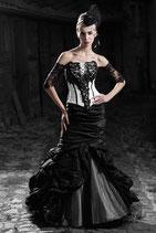 Precious - Schwarz-weißes Brautkleid