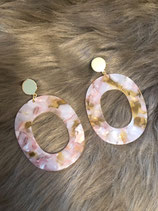 Resin Ohrringe Pink Yellow