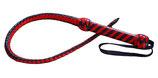 Peitsche Singletail schwarz-rot