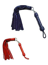 Wildleder-Peitsche schwarz oder rot