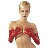 Latex-Handschuhe lang rot