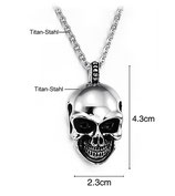 Halskette mit Totenkopf-Anhänger Gothic