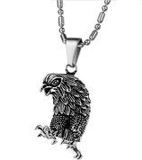 Biker Halskette mit Anhänger Bird of Prey
