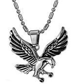 Biker Halskette mit Anhänger Adler