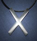 Halskette Anhänger Andreaskreuz