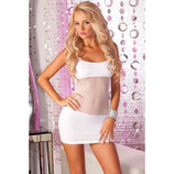 Minikleid Adrenaline seamless net dress White