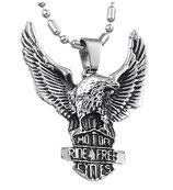 Halskette mit Adler-Anhänger Gothic Biker