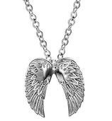 Gothic Halskette mit Anhänger Engelsflügel