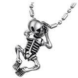 Halskette mit Skelett-Anhänger Skull Gothic