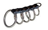 TERGINUM Peniskäfig Höllentor mit 5 Ringen und D-Ring