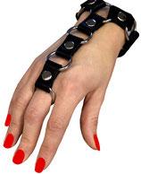 Terginum BDSM Fetisch Punk Gothic Armband mit Ring