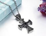 Halskette mit Kreuz-Anhänger Gothic
