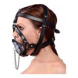 Kopf-Harness aus Leder mit Knebel