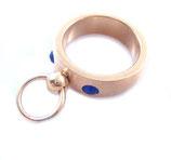 BDSM Ring der O mit 2 Steinchen gold
