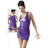 Latex Minidress Minikleid in lila
