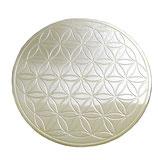 Rond à tout faire en laiton nickelé Fleur de Vie 10.5 cm Dessous de verre