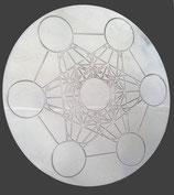Cube de Métatron plaque en laiton nickelé D.30 CM