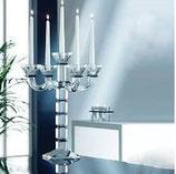 Chandelier bougeoir de cristal à 5 bras design style Art Déco 15x15 cm H.56 cm