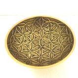 Coupelle petit bol en laiton géométrie Fleur de Vie 9x3 cm