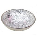 Coupelle petit bol en laiton nickelé géométrie Fleur de Vie 9x3 cm