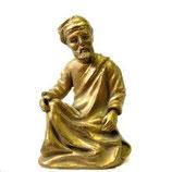 Statuette homme saint prophète moulage résine du Louvre feuille d'or H. 18 cm