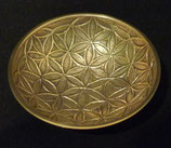 Plat coupe en laiton motif Fleur de Vie 20X4.5 cm
