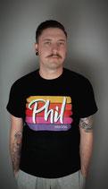 T-Shirt Phil Logo (Schwarz)