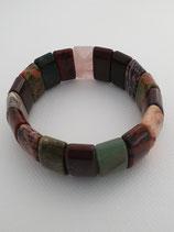 Jaspis-Armband, Rosenquarz u. a. verschiedene Farbgebungen, Armband breit