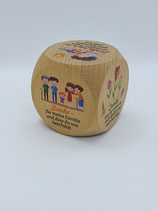 Taufwürfel klein Holz