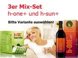 3er Mix-Set h-one+ (Flasche) und h-sun+ nach Wahl