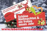 Weihnachtsgutschein (Gutscheinkarte mit Umschlag)