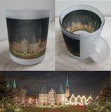 Milchglas-Tasse - Motiv Holstentor