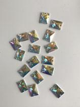 Preciosa REACTANGLE 301 crystal ab 2 Loch 18X13 mm