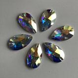 swarovski drop 2 loch 28x17 mm Crystal ab