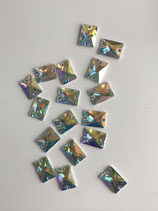 Preciosa crystal ab 2 Loch 25X18 mm